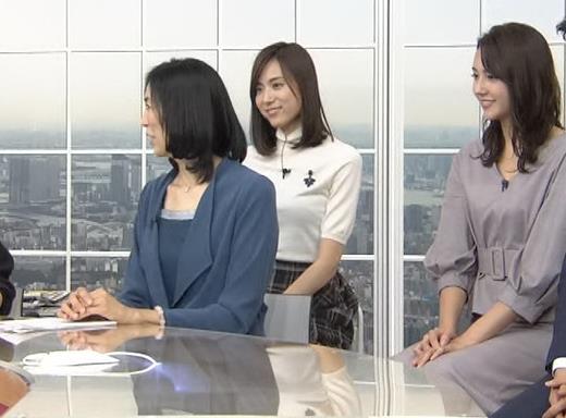 アナ 真っ白ニットのおっぱいキャプ・エロ画像5