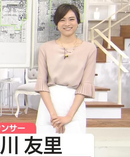 笹川友里アナ 清楚系巨乳アナキャプ・エロ画像
