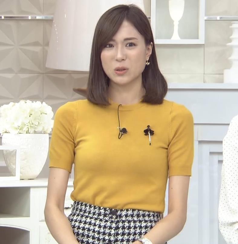 笹川友里アナ エッチな胸のふくらみキャプ・エロ画像4