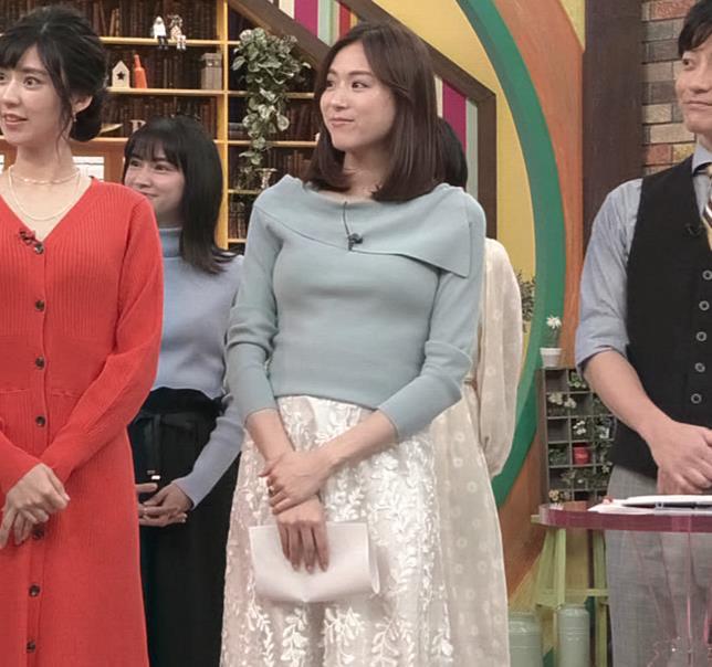 笹川友里アナ 妊娠でお腹がポッコリだけど、おっぱいがエロいキャプ・エロ画像