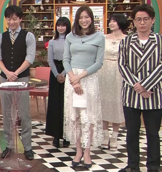 笹川友里アナ 妊娠でお腹がポッコリだけど、おっぱいがエロいキャプ・エロ画像2