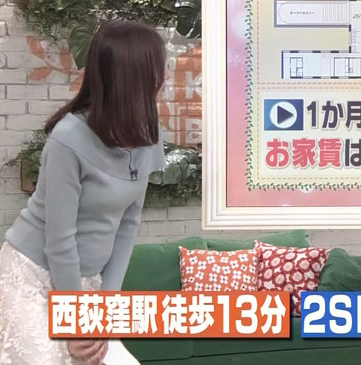 笹川友里アナ 妊娠でお腹がポッコリだけど、おっぱいがエロいキャプ・エロ画像9