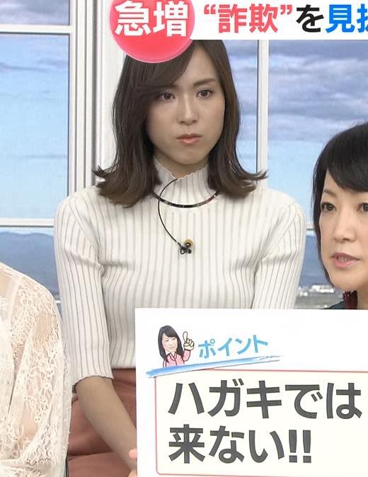笹川友里アナ 縦縞でおっぱいらのラインがエロいキャプ・エロ画像3