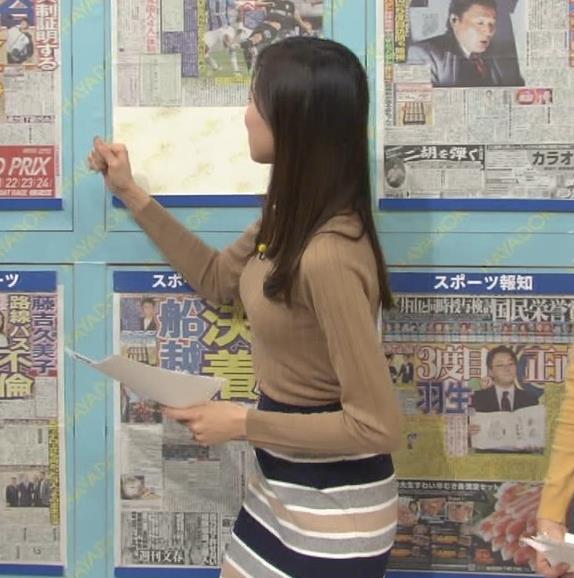 笹川友里アナ 美人・巨乳・女子アナ・人妻のニットおっぱいキャプ・エロ画像2