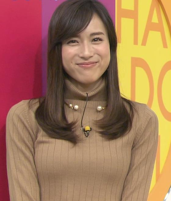 笹川友里アナ 美人・巨乳・女子アナ・人妻のニットおっぱいキャプ・エロ画像11