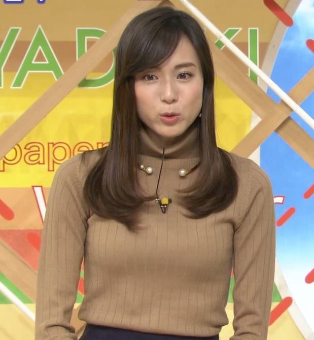笹川友里アナ 美人・巨乳・女子アナ・人妻のニットおっぱいキャプ・エロ画像12