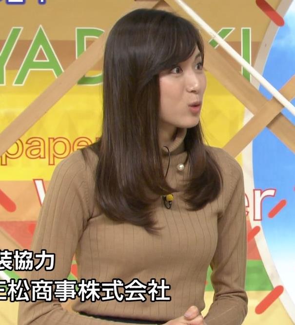 笹川友里アナ 美人・巨乳・女子アナ・人妻のニットおっぱいキャプ・エロ画像13