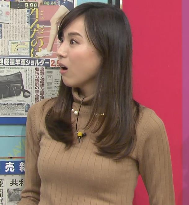 笹川友里アナ 美人・巨乳・女子アナ・人妻のニットおっぱいキャプ・エロ画像14