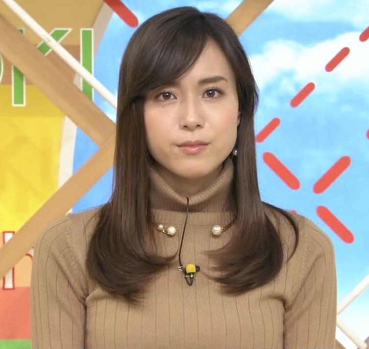 笹川友里アナ 美人・巨乳・女子アナ・人妻のニットおっぱいキャプ・エロ画像3