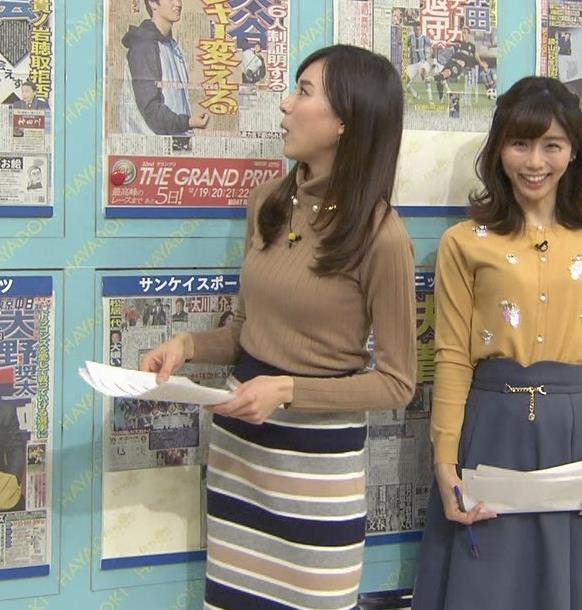 笹川友里アナ 美人・巨乳・女子アナ・人妻のニットおっぱいキャプ・エロ画像4