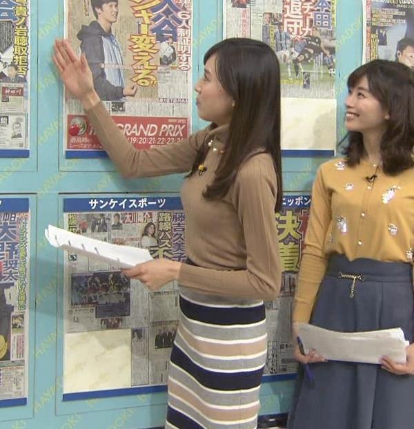 笹川友里アナ 美人・巨乳・女子アナ・人妻のニットおっぱいキャプ・エロ画像5