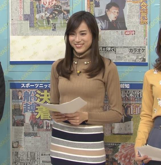 笹川友里アナ 美人・巨乳・女子アナ・人妻のニットおっぱいキャプ・エロ画像6