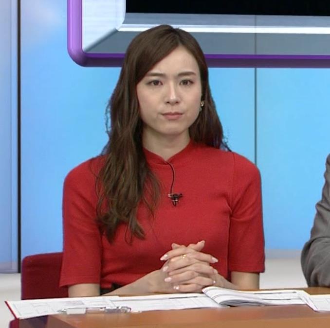 笹川友里アナ クッキリ!ニットおっぱい♡キャプ・エロ画像