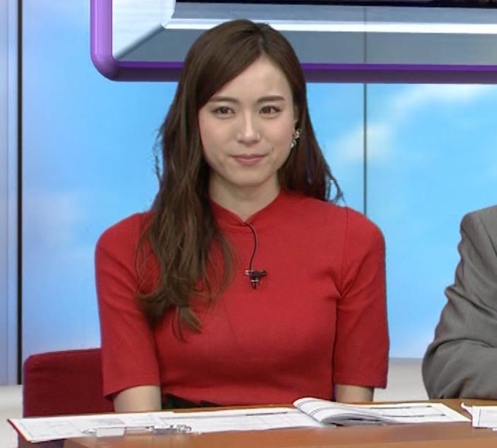 笹川友里アナ クッキリ!ニットおっぱい♡キャプ・エロ画像2