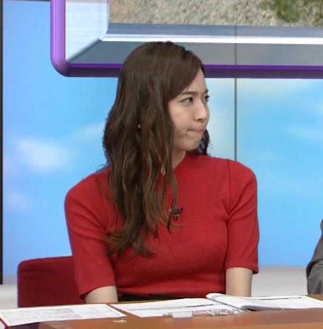 笹川友里アナ クッキリ!ニットおっぱい♡キャプ・エロ画像3