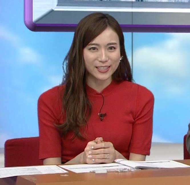 笹川友里アナ クッキリ!ニットおっぱい♡キャプ・エロ画像4