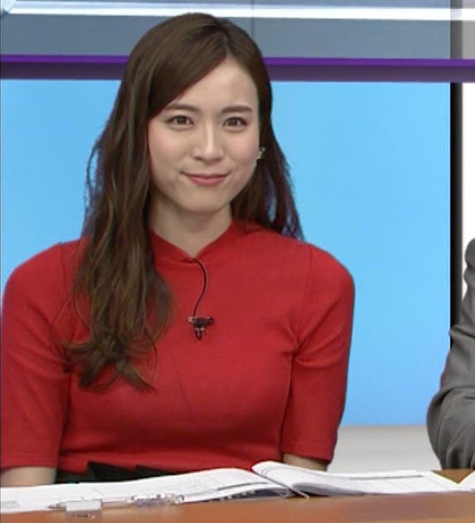 笹川友里アナ クッキリ!ニットおっぱい♡キャプ・エロ画像5