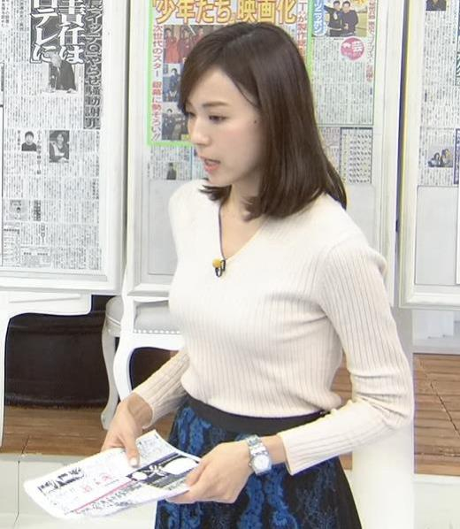 笹川友里 斜めからのニット乳がいい感じキャプ画像(エロ・アイコラ画像)