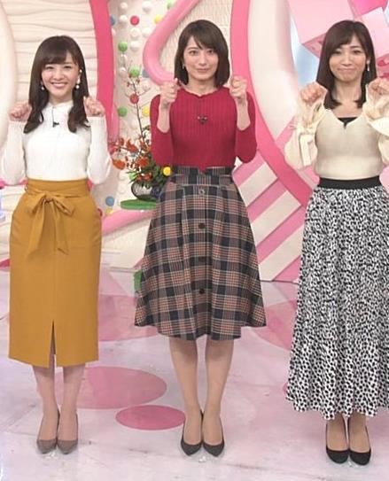 笹崎里菜アナ ワインレッドのぴったりニットキャプ・エロ画像4