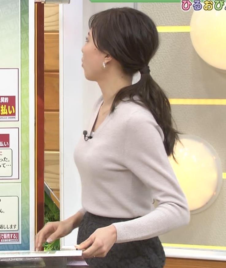 笹川友里アナ 細身なのに巨乳というエロいカラダキャプ・エロ画像