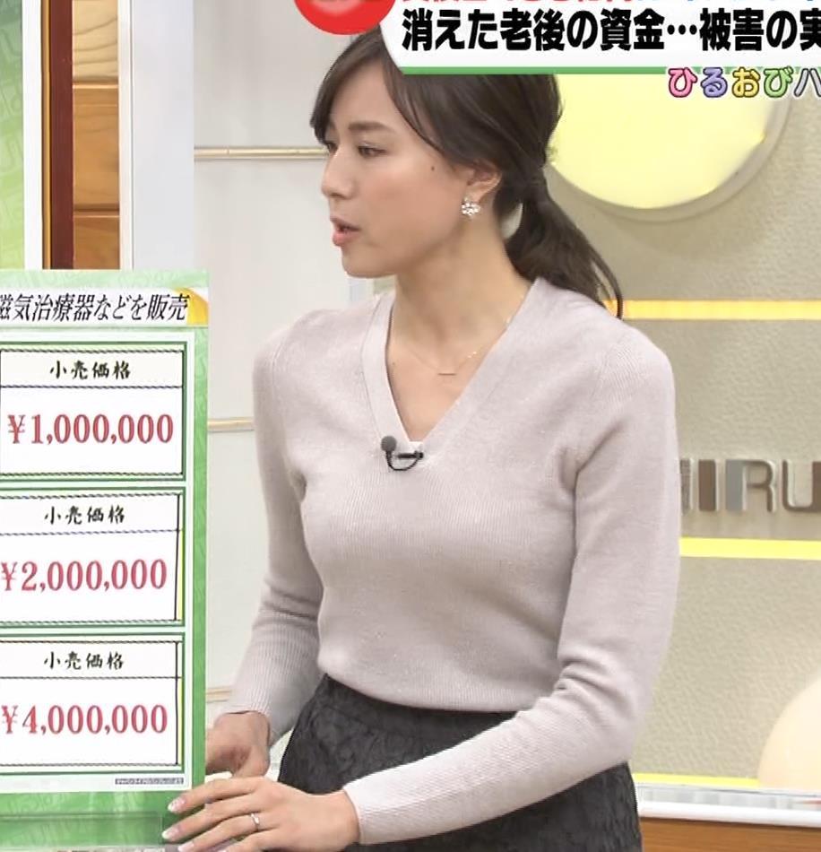 笹川友里アナ 細身なのに巨乳というエロいカラダキャプ・エロ画像2