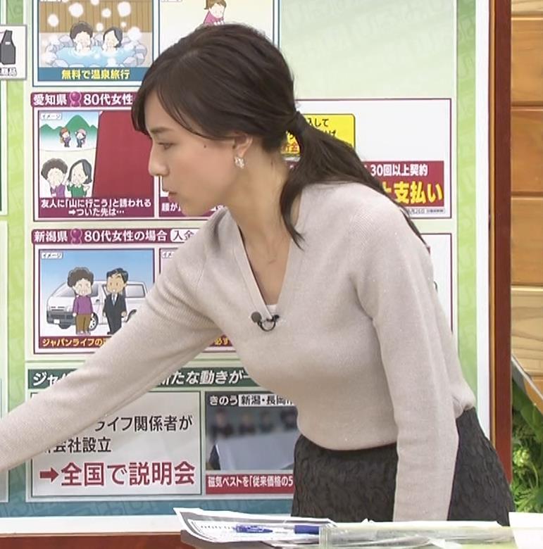 笹川友里アナ 細身なのに巨乳というエロいカラダキャプ・エロ画像11