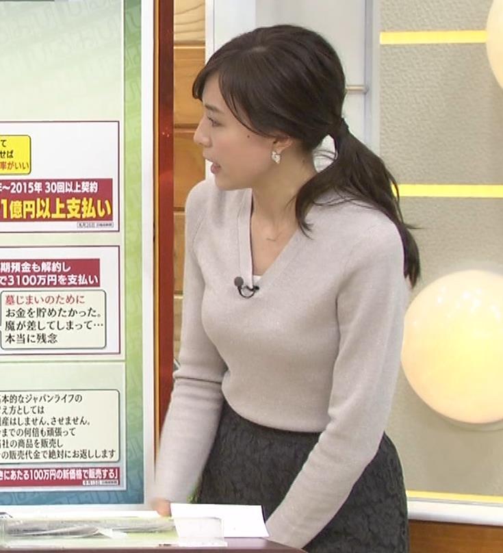 笹川友里アナ 細身なのに巨乳というエロいカラダキャプ・エロ画像14