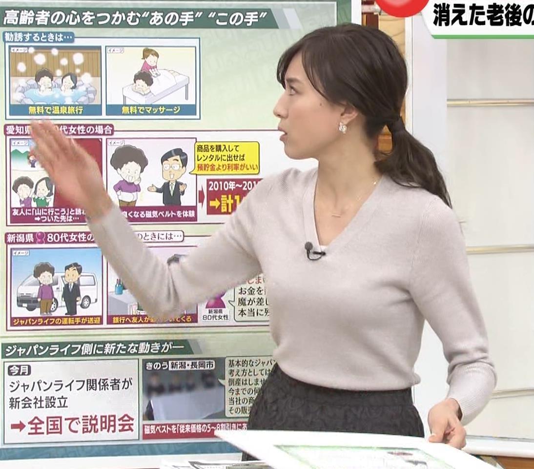 笹川友里アナ 細身なのに巨乳というエロいカラダキャプ・エロ画像5