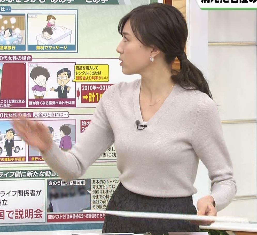 笹川友里アナ 細身なのに巨乳というエロいカラダキャプ・エロ画像6