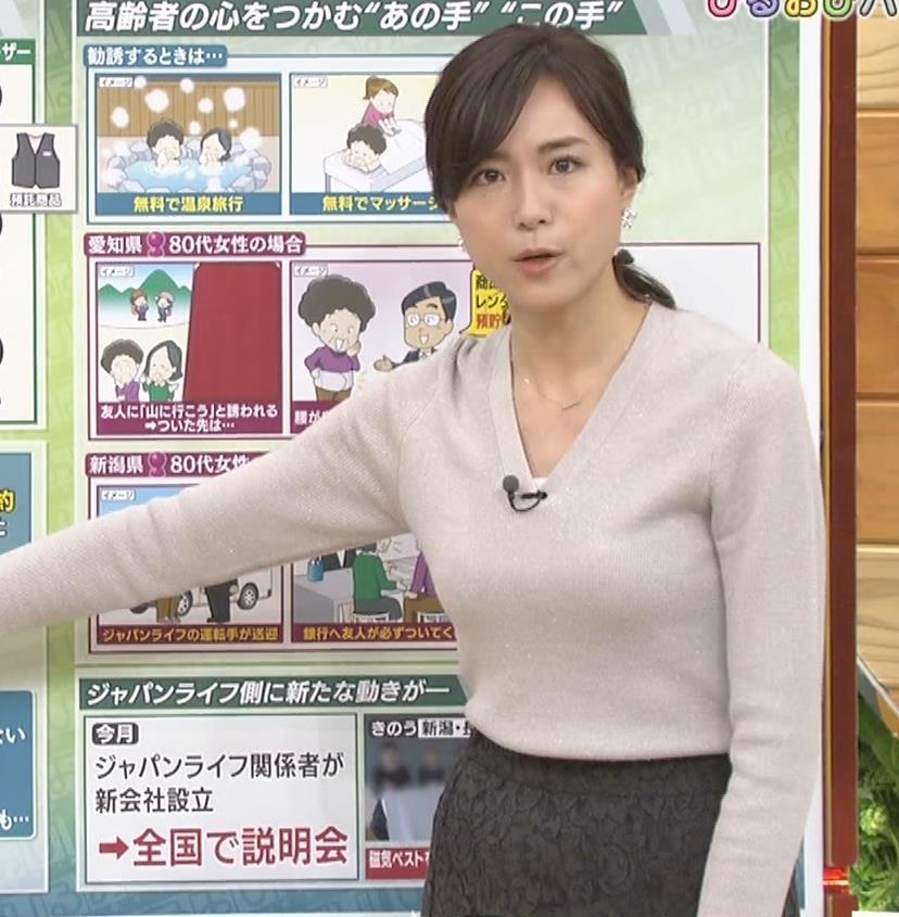 笹川友里アナ 細身なのに巨乳というエロいカラダキャプ・エロ画像7