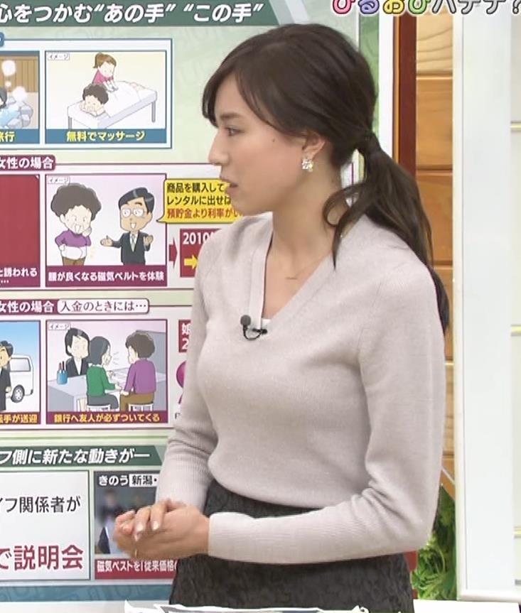 笹川友里アナ 細身なのに巨乳というエロいカラダキャプ・エロ画像8