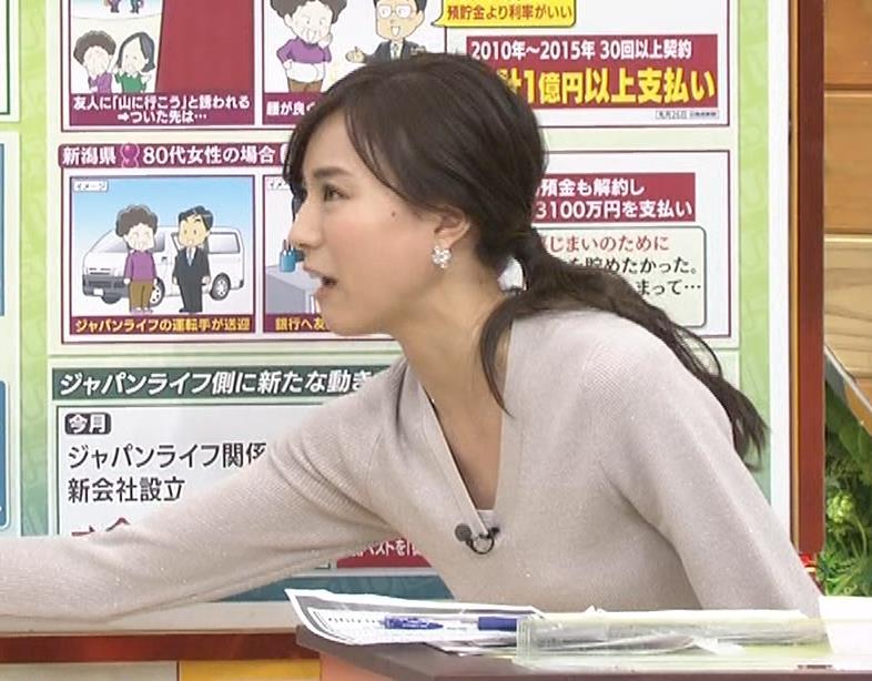 笹川友里アナ 細身なのに巨乳というエロいカラダキャプ・エロ画像10