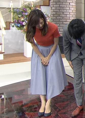 笹川友里 美人TBS女子アナの巨乳ニットキャプ・エロ画像2