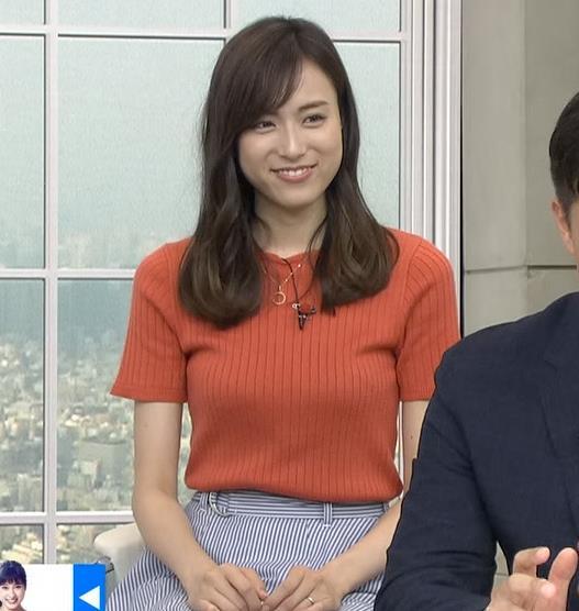 笹川友里 美人TBS女子アナの巨乳ニットキャプ・エロ画像5