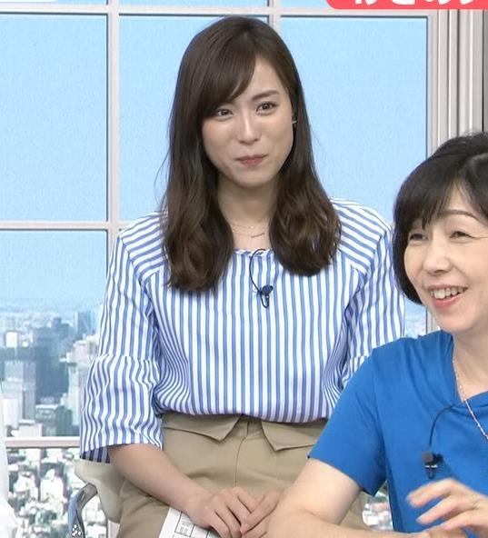 笹川友里 美人TBS女子アナの巨乳ニットキャプ・エロ画像8