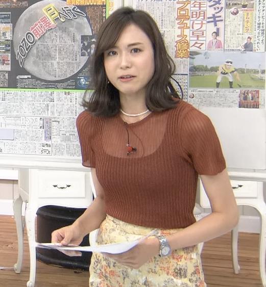 笹川友里アナ 透け方がエロいキャプ・エロ画像