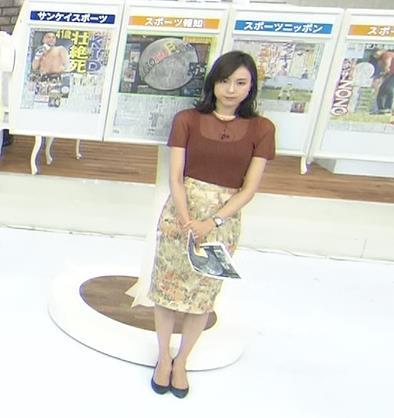 笹川友里アナ 透け方がエロいキャプ・エロ画像2