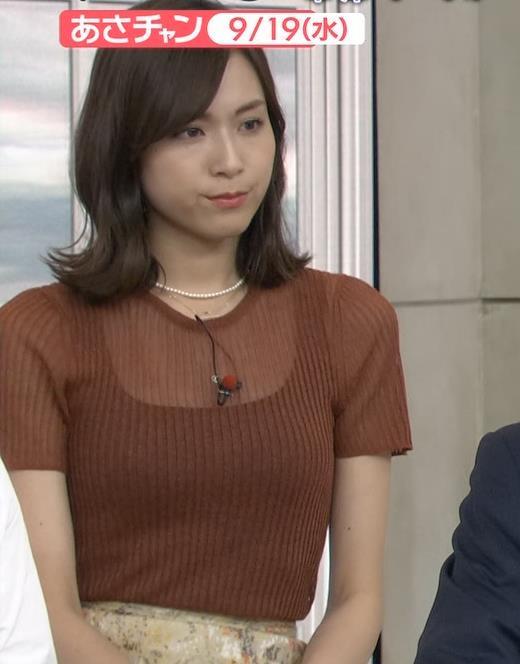 笹川友里アナ 透け方がエロいキャプ・エロ画像3