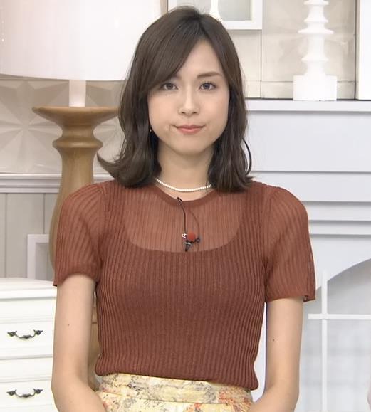 笹川友里アナ 透け方がエロいキャプ・エロ画像4