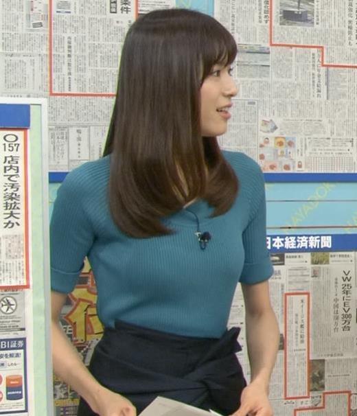 笹川友里 細身で巨乳な美人アナキャプ画像(エロ・アイコラ画像)