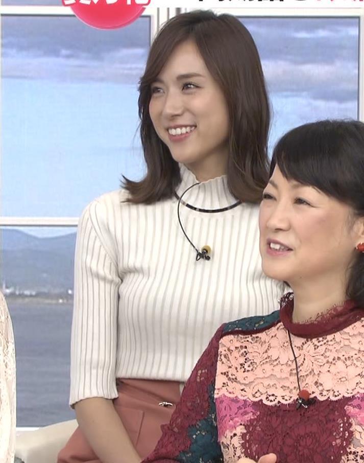 笹川友里アナ ニット乳💛キャプ・エロ画像2