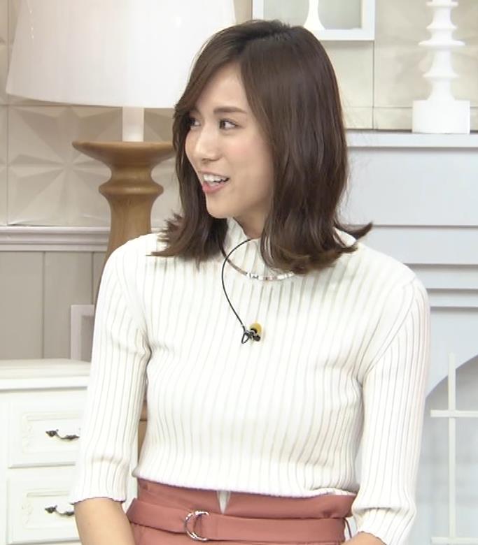 笹川友里アナ ニット乳💛キャプ・エロ画像5