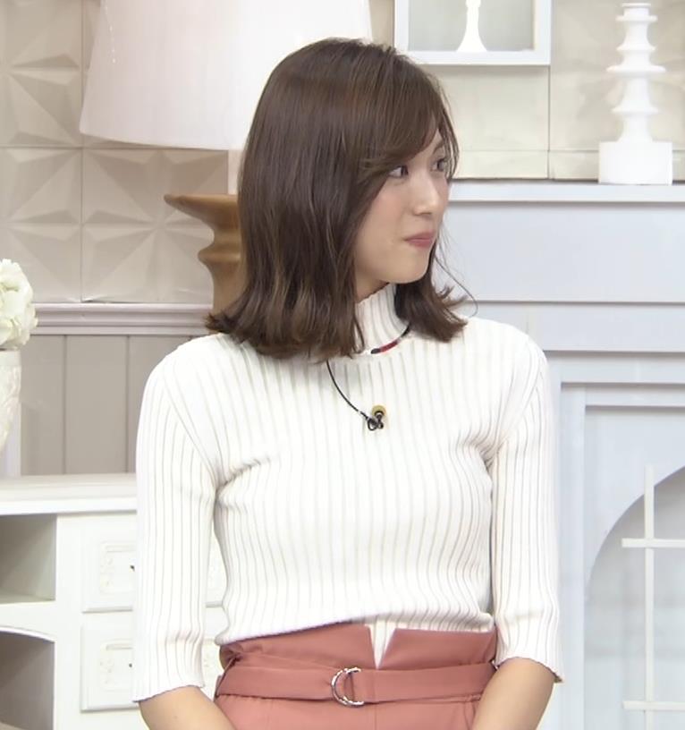 笹川友里アナ ニット乳💛キャプ・エロ画像6
