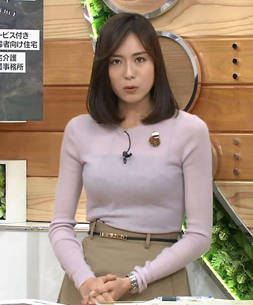アナ 巨乳のキャミ透けキャプ・エロ画像