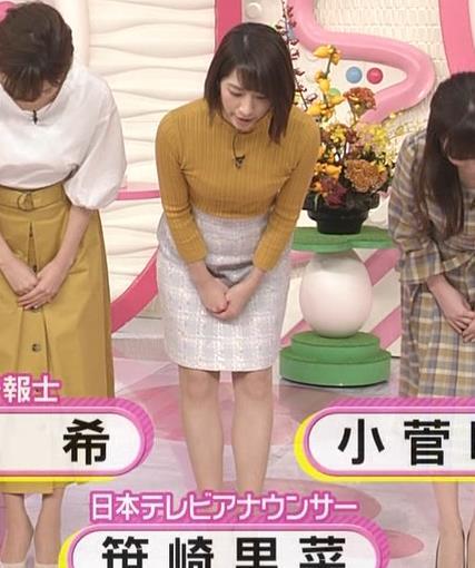 笹崎里菜アナ ピチピチの服のおっぱいキャプ・エロ画像2