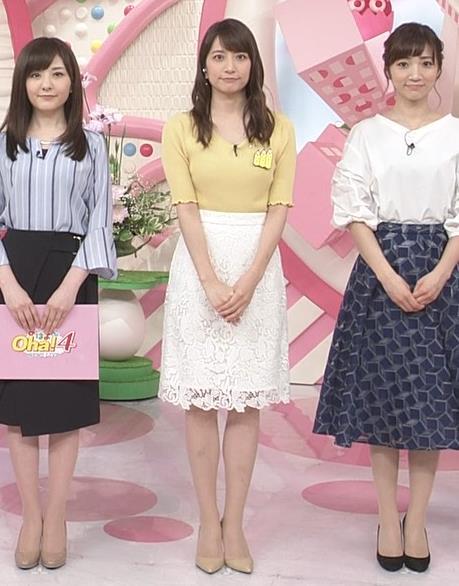 笹崎里菜アナ 黄色いニットの乳キャプ・エロ画像5