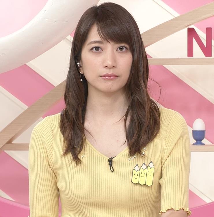 笹崎里菜アナ 黄色いニットの乳キャプ・エロ画像7