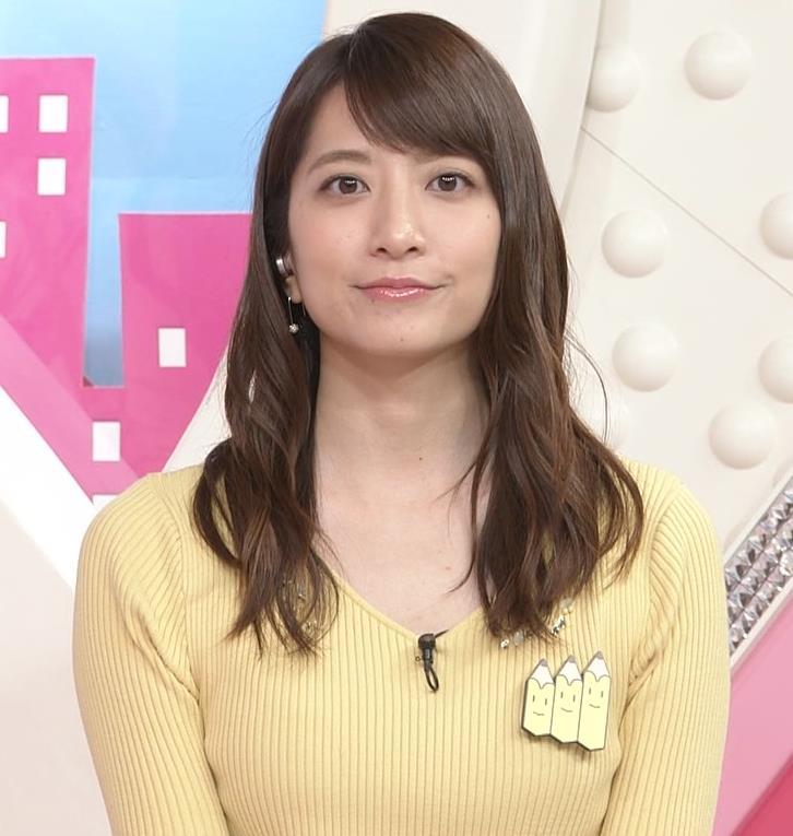 笹崎里菜アナ 黄色いニットの乳キャプ・エロ画像8