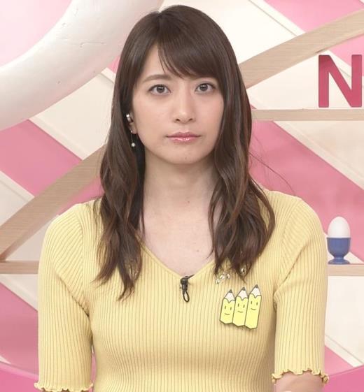 笹崎里菜 黄色いニットの乳キャプ画像(エロ・アイコラ画像)