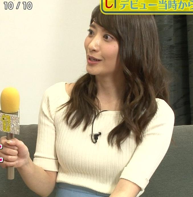 笹崎里菜アナ ニットおっぱいがデカいキャプ・エロ画像4